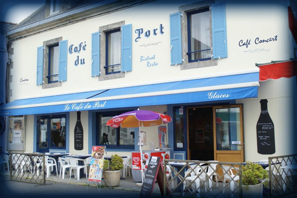 Le caf du port le tudy finist re france - Le bistrot du port courseulles ...